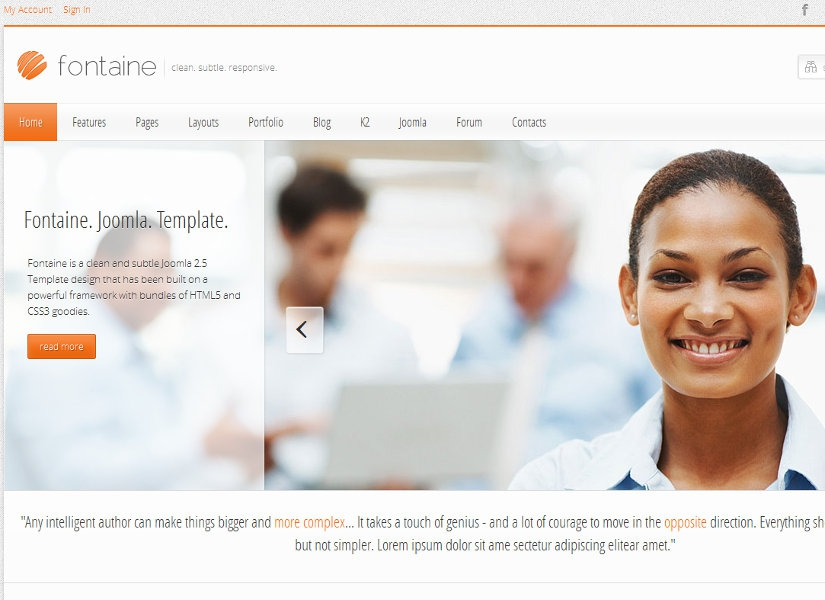 Fontaine Joomla Template