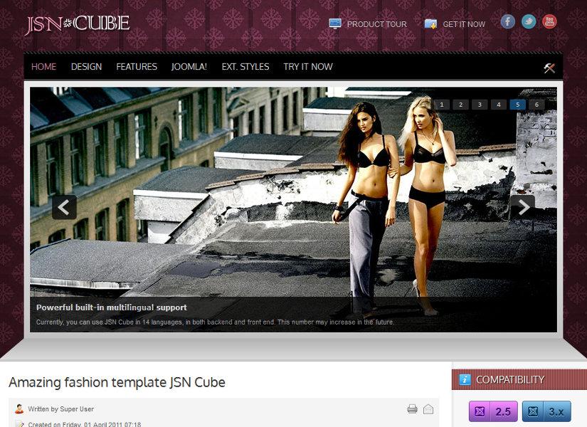 JSN Cube Joomla Template