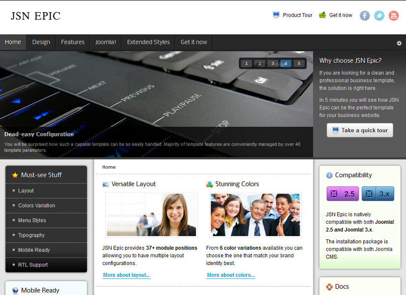 JSN Epic Joomla Template