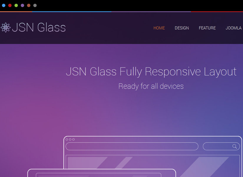 JSN Glass Joomla Template
