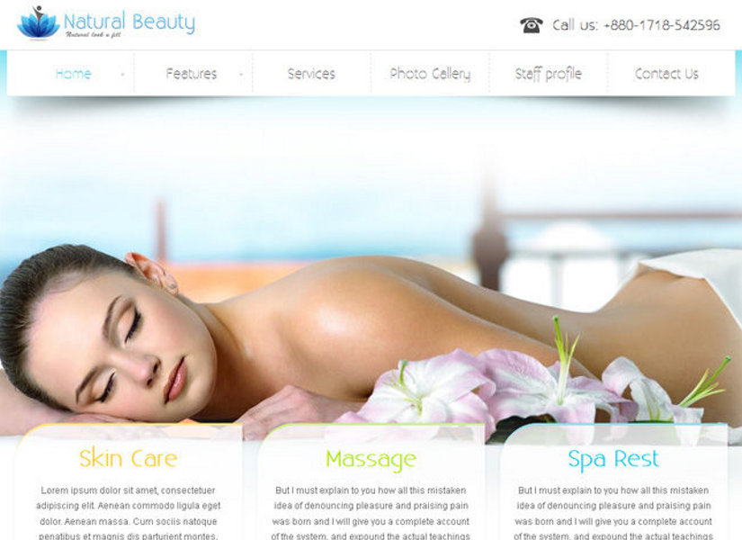 Natural Beauty Joomla Template