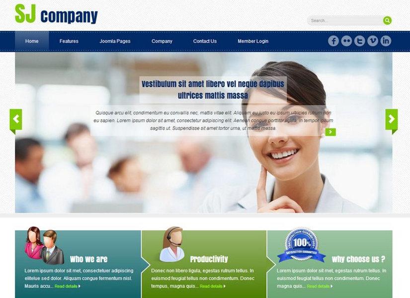 SJ Company Joomla Template