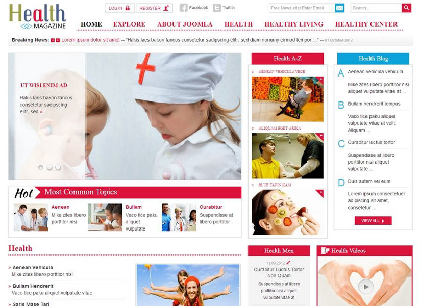 SJ Health Joomla Template