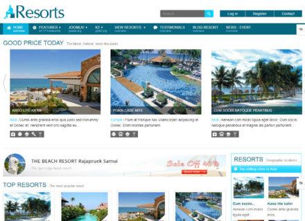 SJ Resorts Joomla Template