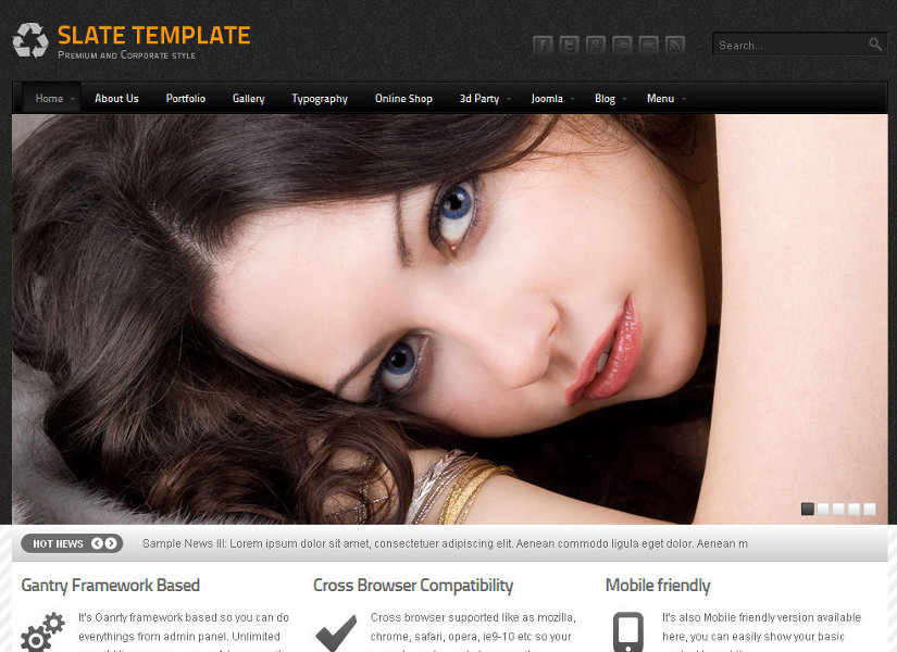 Slate Joomla Template