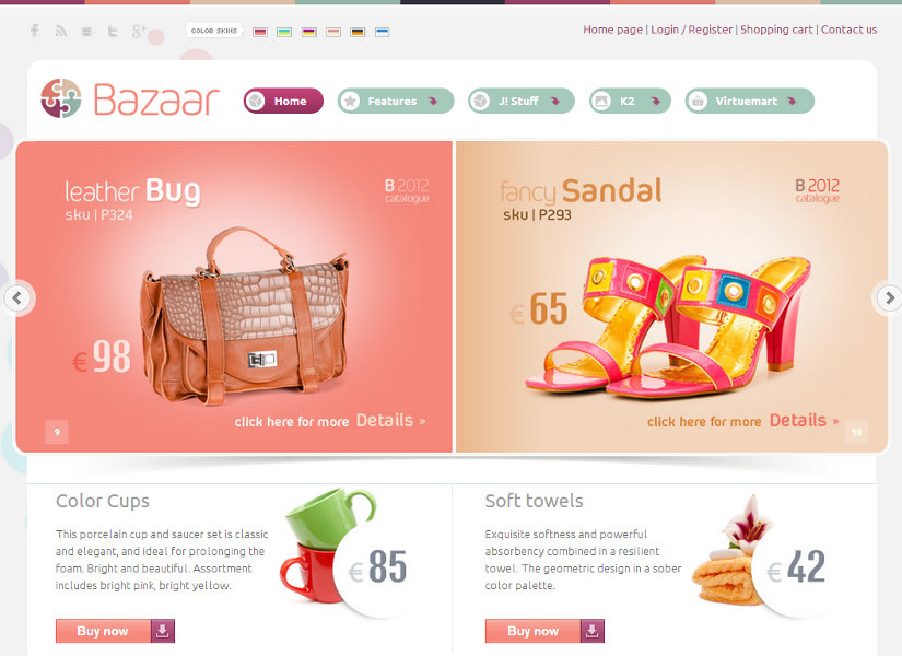 Bazaar Joomla Template