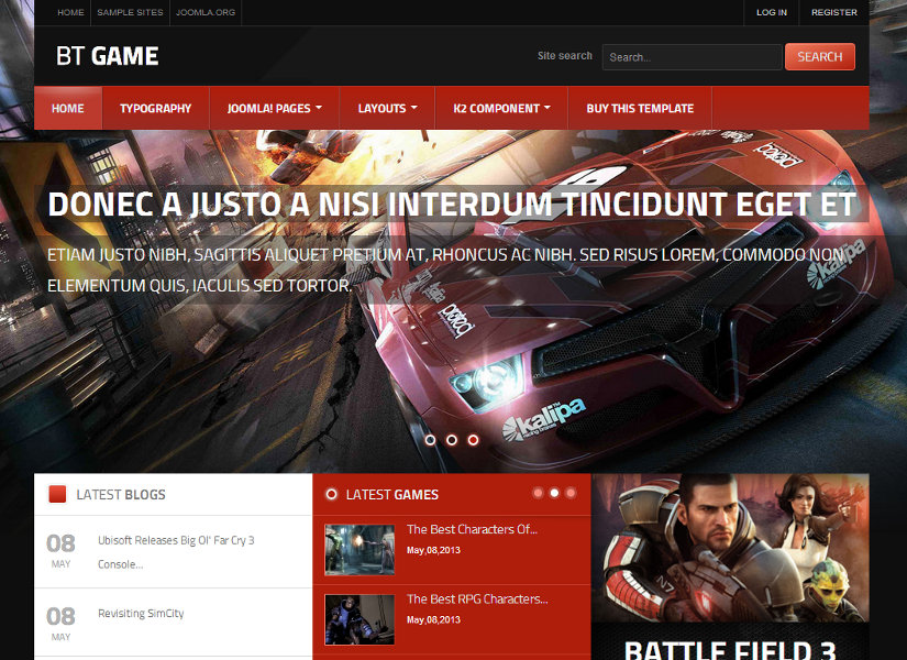 BT Game Joomla Template
