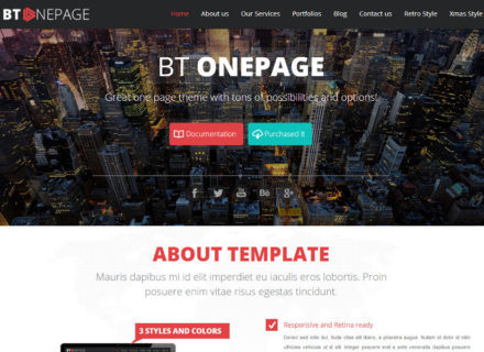 BT One Page Joomla Template