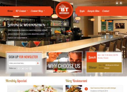 BT Restaurant Joomla Template