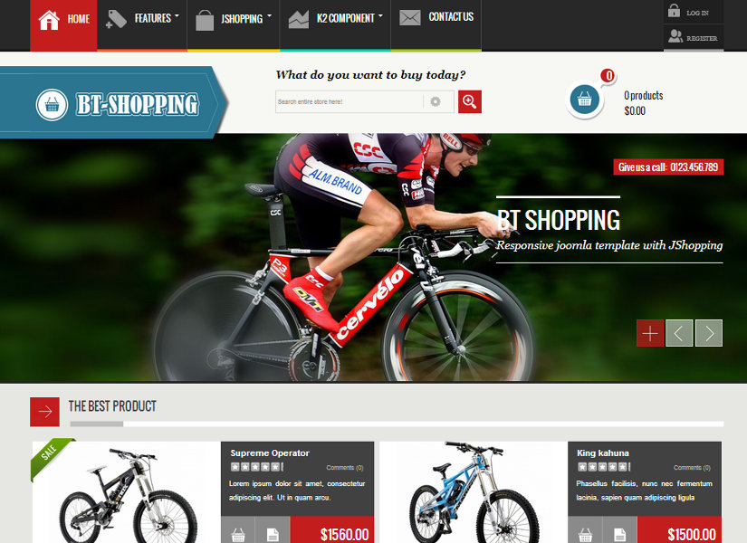 BT Shopping Joomla Template