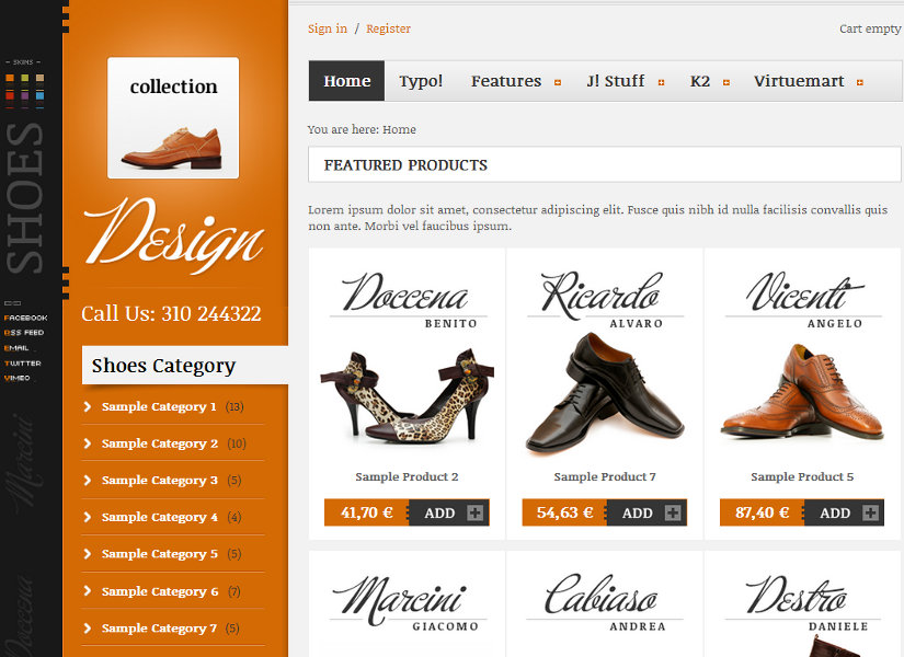 Collection Joomla Template