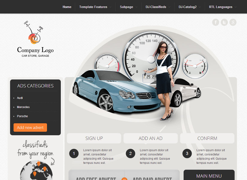 DJ-Car-Company Joomla Template