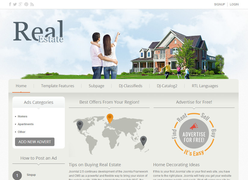 DJ-Real-Estate02 Joomla Template