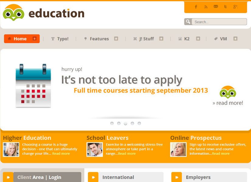 Education Joomla Template