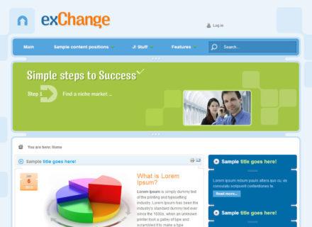 Exchange Joomla Template