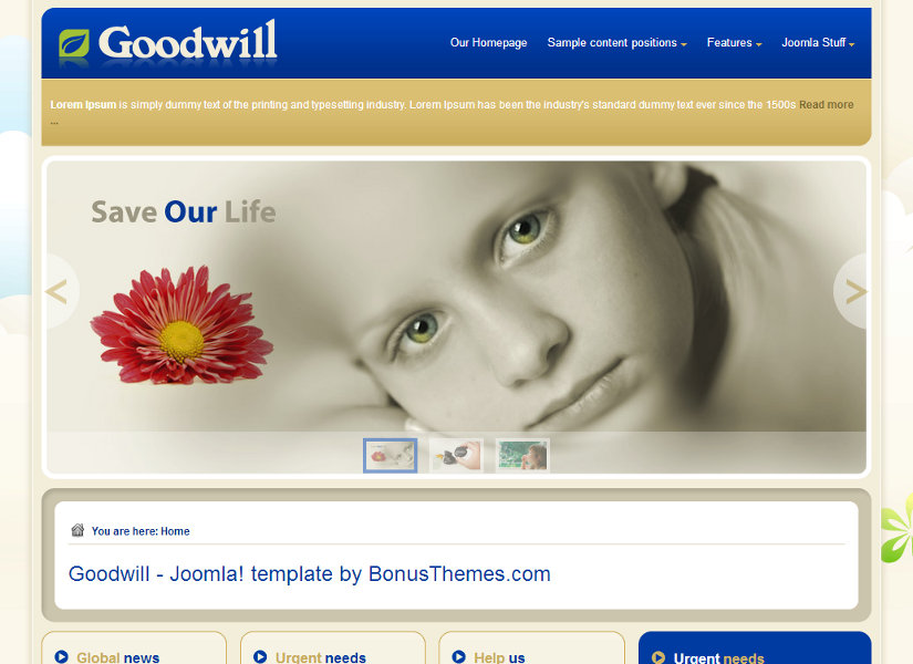 GoodWill Joomla Template