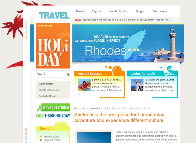 Holiday Joomla Template