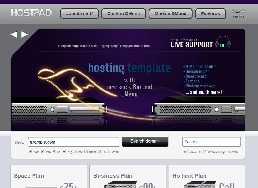 HostPad Joomla Template