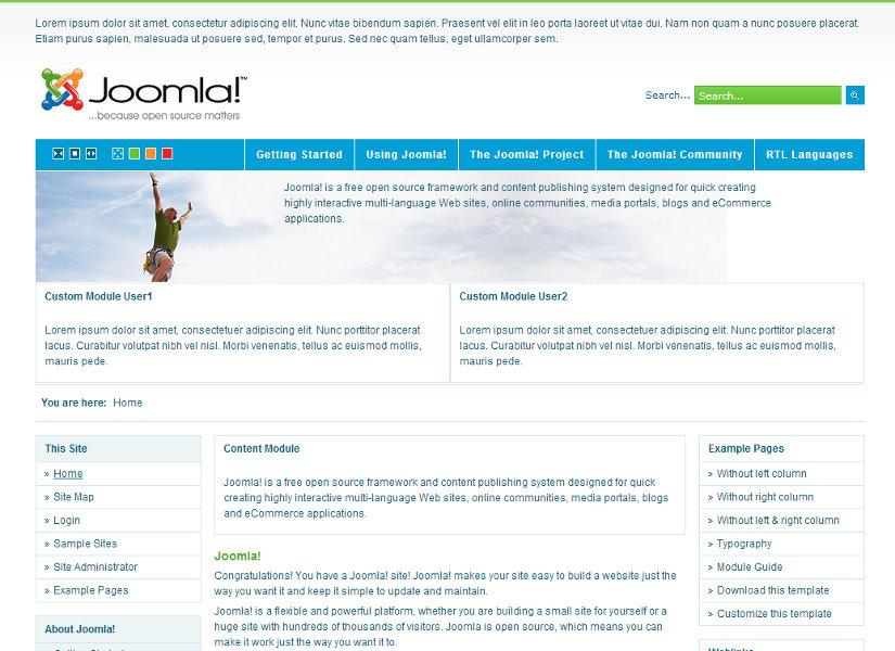 JM 0013 Joomla Template