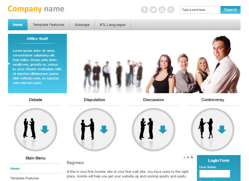 JM Business Marketing Joomla Template