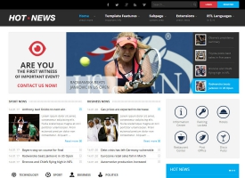 JM-Hot-News Joomla Template