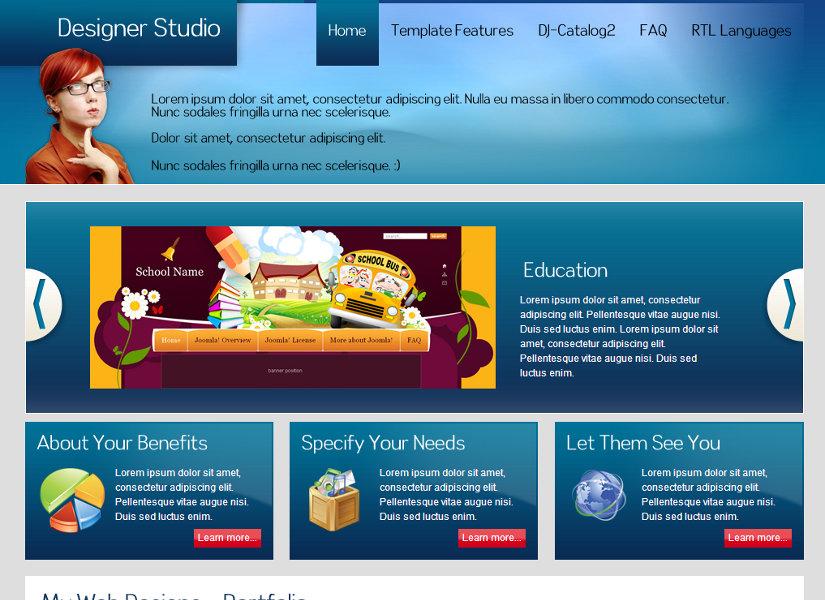 JM-Web-Designer Joomla Template