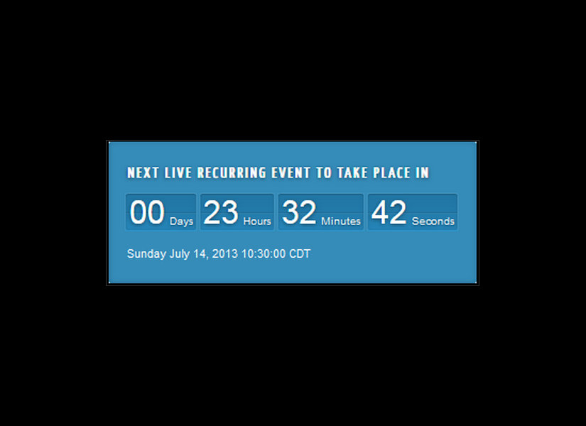 Live Brodcast Countdown Module Joomla Extension