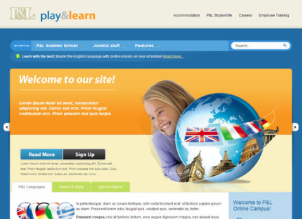 Play & Learn Joomla Template