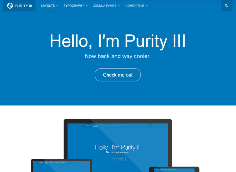 Purity III Joomla Template