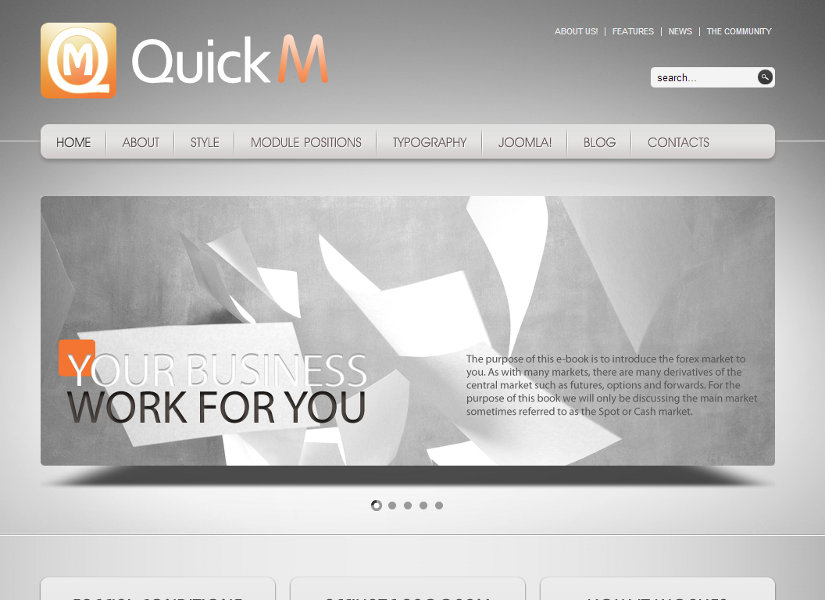 QuickM Joomla Template