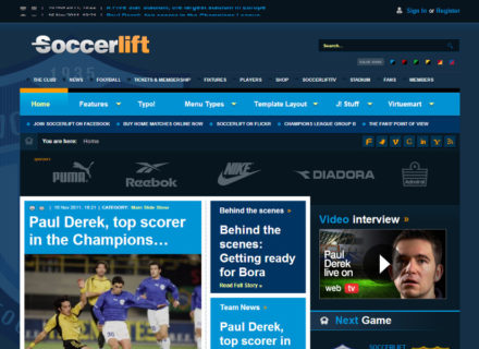 Soccerlift Joomla Template