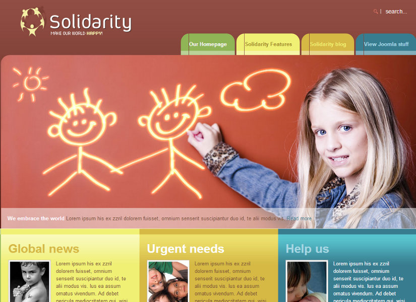 Solidarity Joomla Template