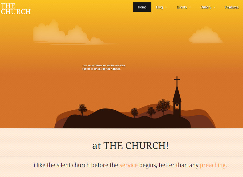 The Church Joomla Template