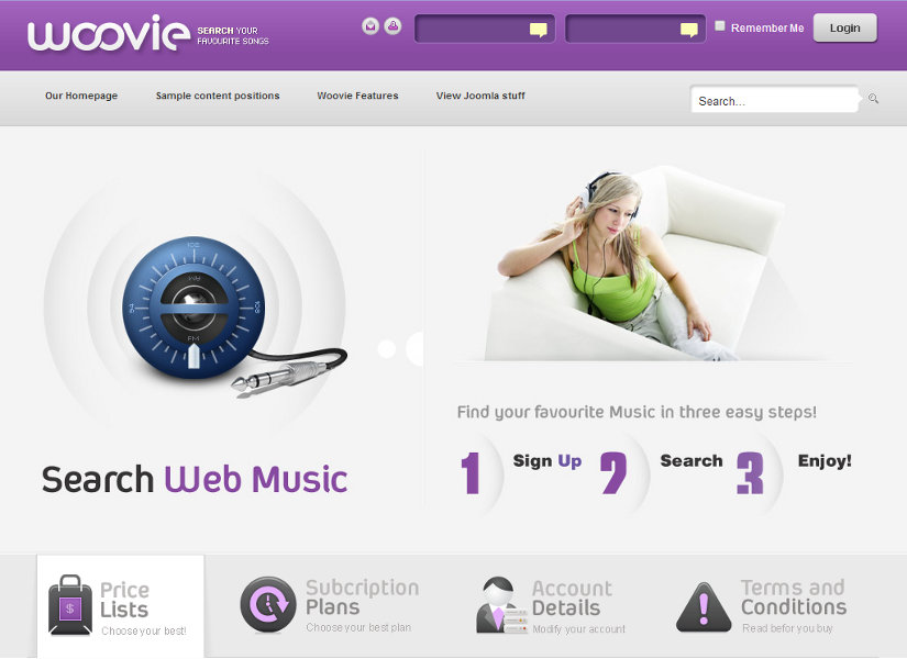 Woovie Joomla Template