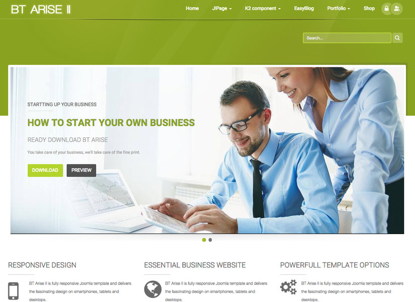 BT Arise Joomla Template