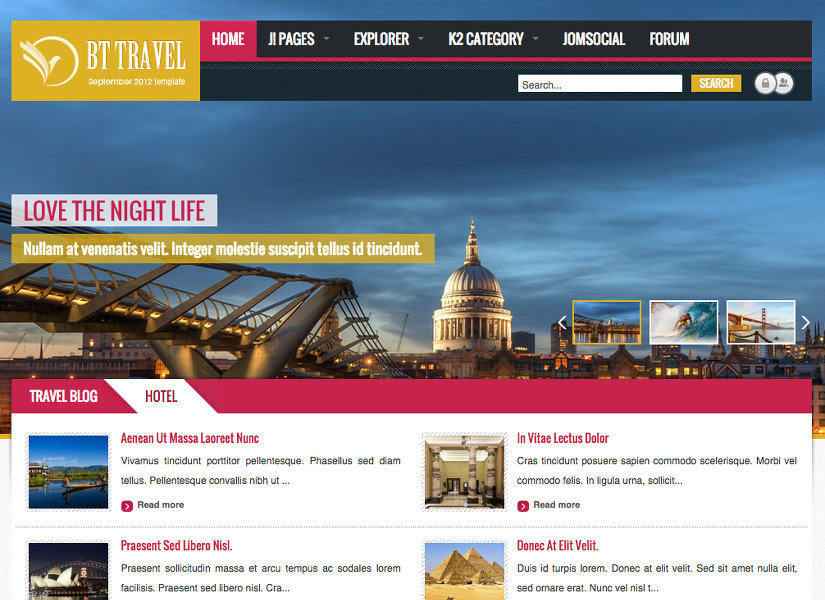 BT Travel Joomla Template