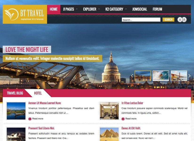 BT Travel Joomla Template